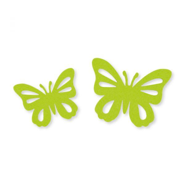 "Filz-Sortiment ""Schmetterlinge"" 2 Größen im Set spring green Hauptbild Detail"