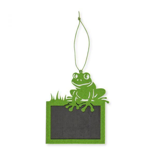 """Tafel-Hänger """"Frosch"""" mit Yarnstring green Hauptbild Detail"""