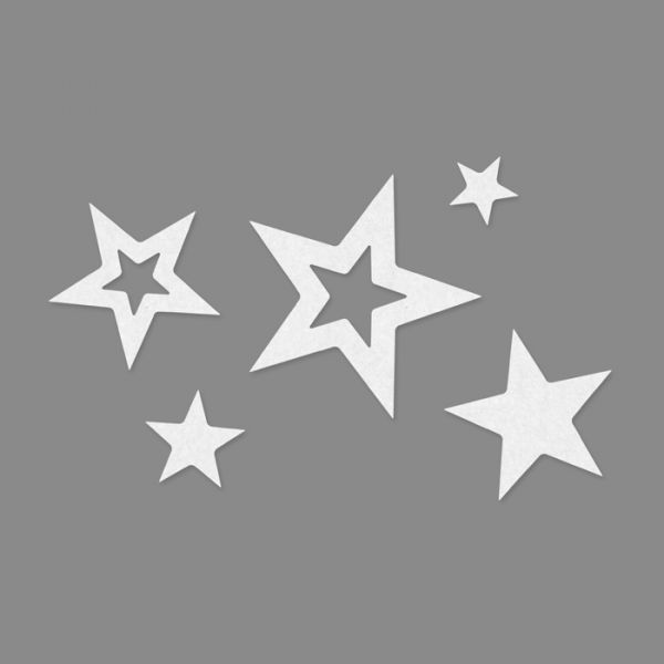 "Filzsortiment ""Sterne"" white Hauptbild Detail"