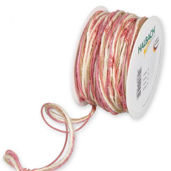 Materialmix-Kordel flamingo/cream/natural Hauptbild Listing