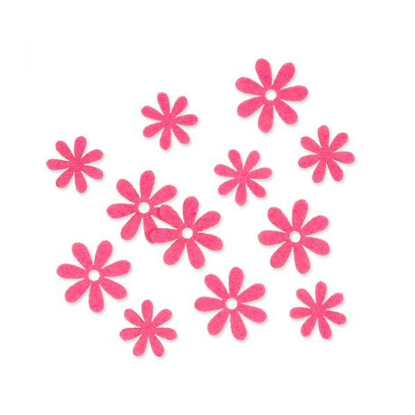 "Filzsortiment ""Blümchen"" bright pink Hauptbild Listing"