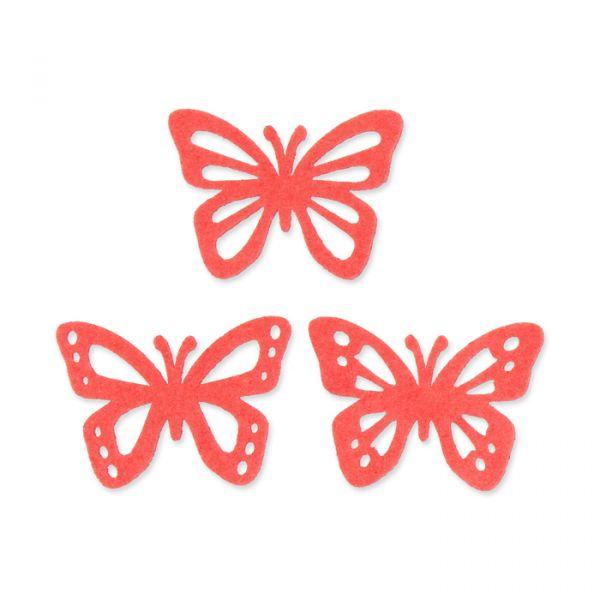 "Filzsortiment ""Schmetterlinge"" coral Hauptbild Detail"