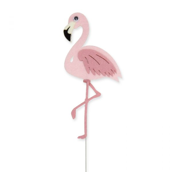 """Drahtstecker """"Flamingo"""" light rose Hauptbild Detail"""
