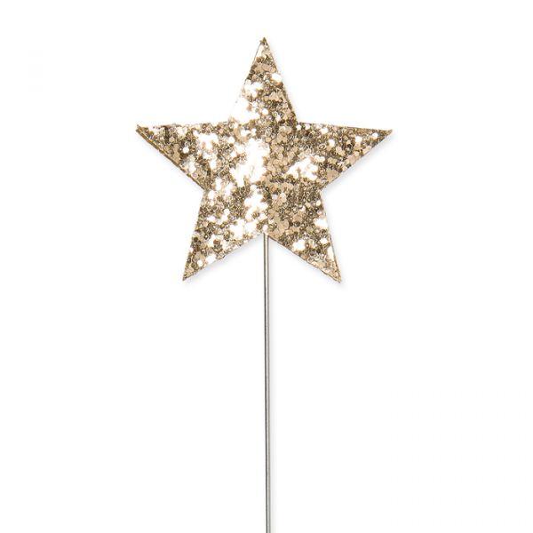 "Mini-Stecker ""Glitter-Sterne"" gold Hauptbild Detail"