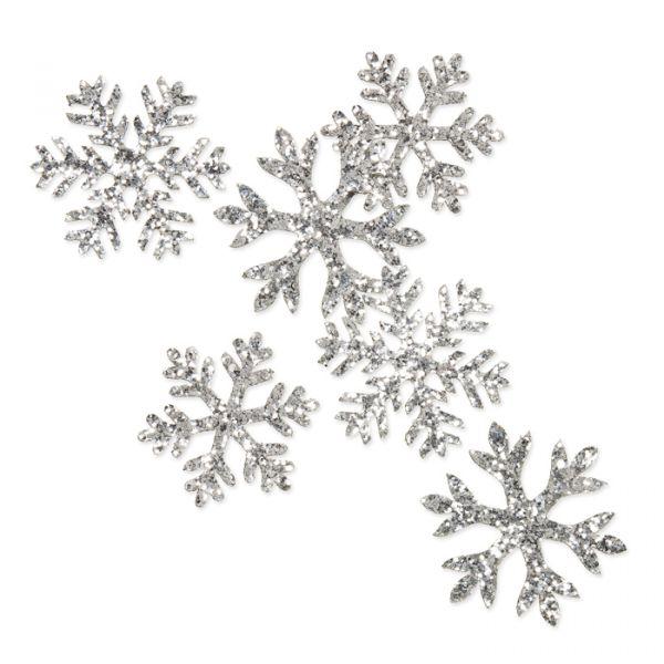 """Glitter-Sortiment """"Eiskristalle"""" silver Hauptbild Listing"""