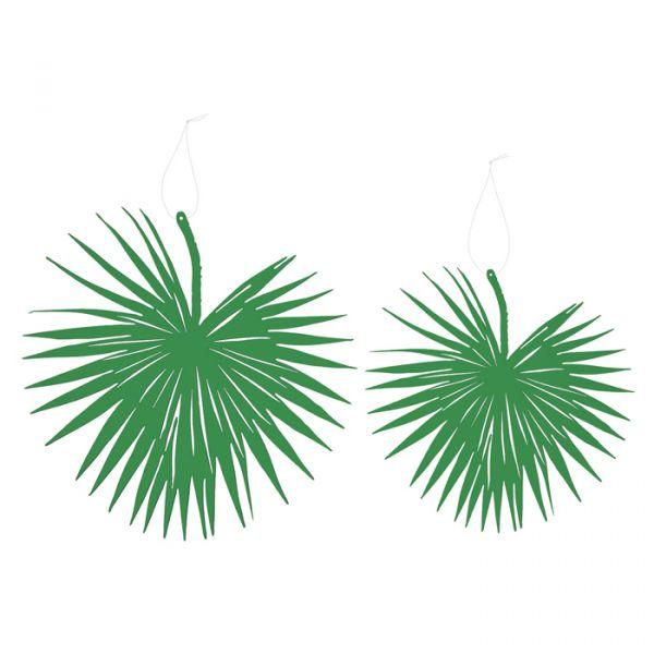 """Papier-Deko """"Palmblatt"""" grass green Hauptbild Detail"""