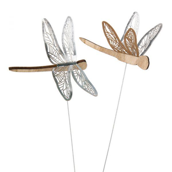 "Drahtstecker ""Libelle"" silver Hauptbild Detail"