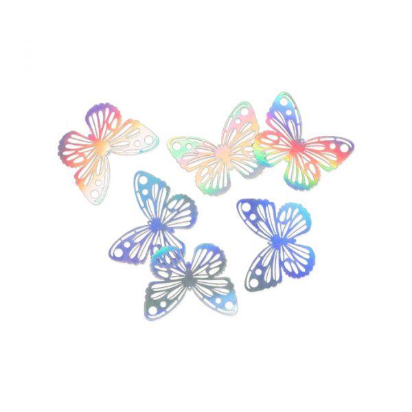"""Papier-Deko """"Schmetterlinge"""" iridescent Hauptbild Listing"""