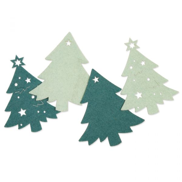 "Filzsortiment ""Weihnachtsbäume"" petrol/light mint Hauptbild Listing"