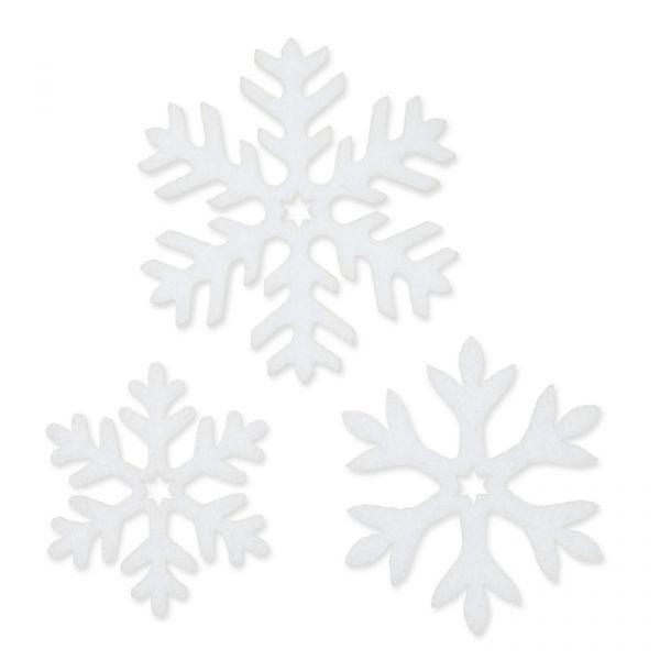 "Filzsortiment ""Eiskristalle"" white Hauptbild Detail"