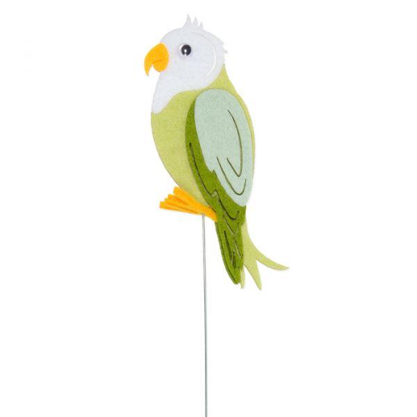 """Drahtstecker """"Vogel"""" white/pale green/light mint/green Hauptbild Detail"""