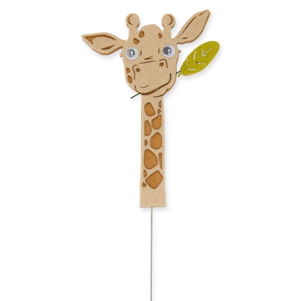 "Drahtstecker ""Giraffe"" beige/reed green/natural Hauptbild Detail"