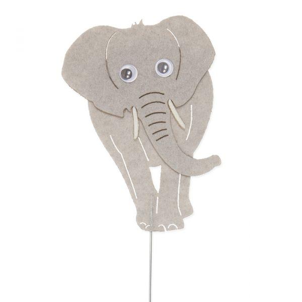 "Drahtstecker ""Elefant"" stone grey Hauptbild Detail"