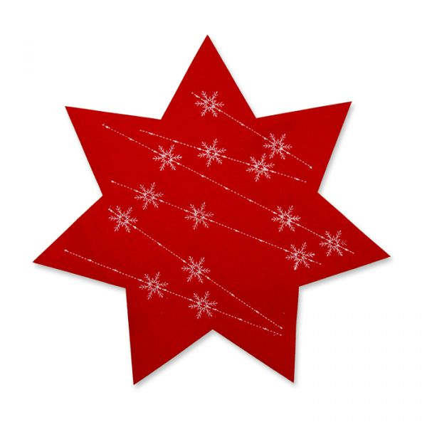 Filz-Sterne red/white Hauptbild Detail