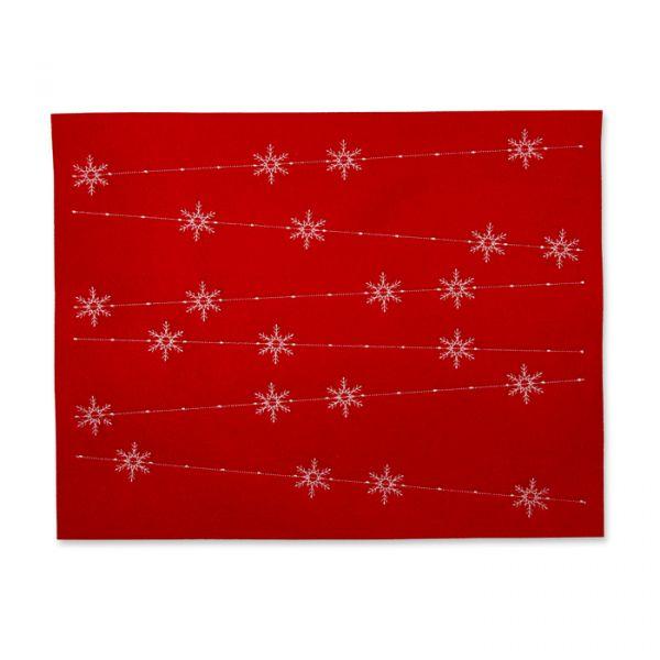 Filz-Tischset red/white Hauptbild Detail