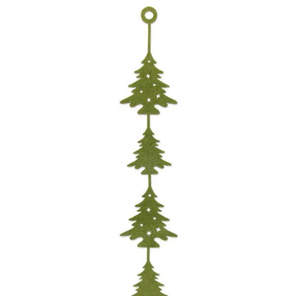 """Filz-Girlande """"Bäume"""" moss green Hauptbild Detail"""