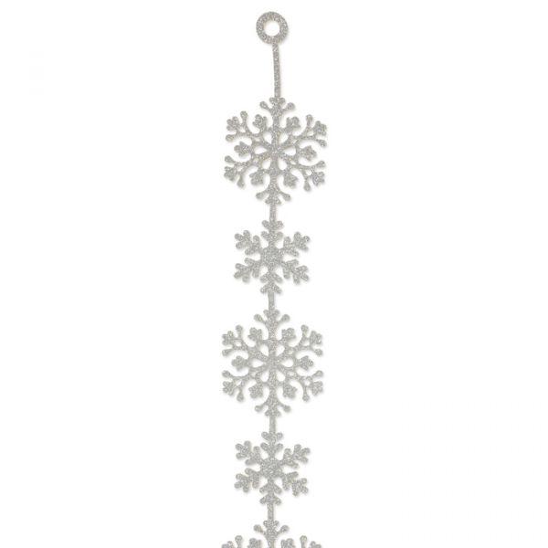 "Glitter-Filz-Girlande ""Eiskristalle"" silver Hauptbild Detail"