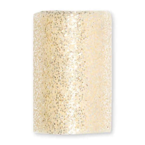 Deko-Glitter-Tüll cream Hauptbild Detail