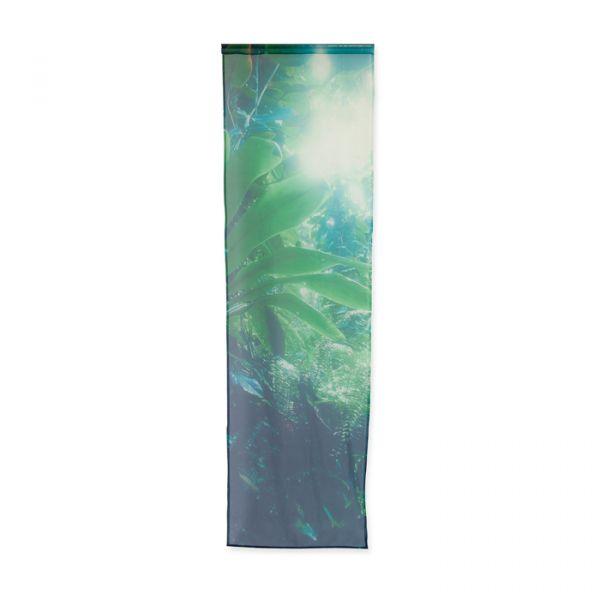 Voile Vorhang mit Digital-Motivdruck green/dark blue Hauptbild Detail
