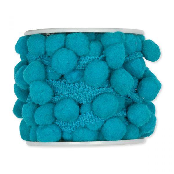 Pompon-Band turquoise Hauptbild Detail
