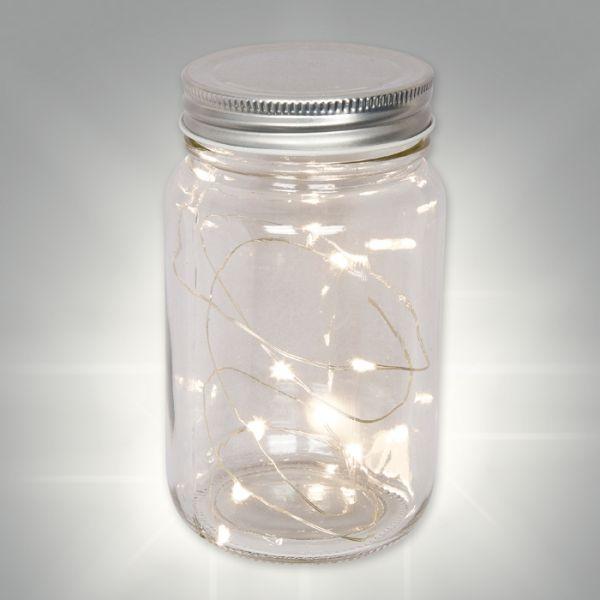 Befüllbares LED-Glas mit Schraubverschluss clear Hauptbild Detail