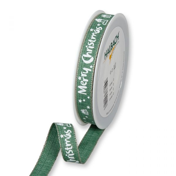 "Druckband ""Merry Christmas"" dark green/white Hauptbild Listing"