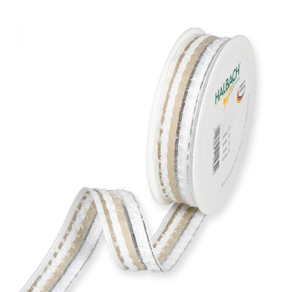 Streifenband white/natural/silver Hauptbild Listing
