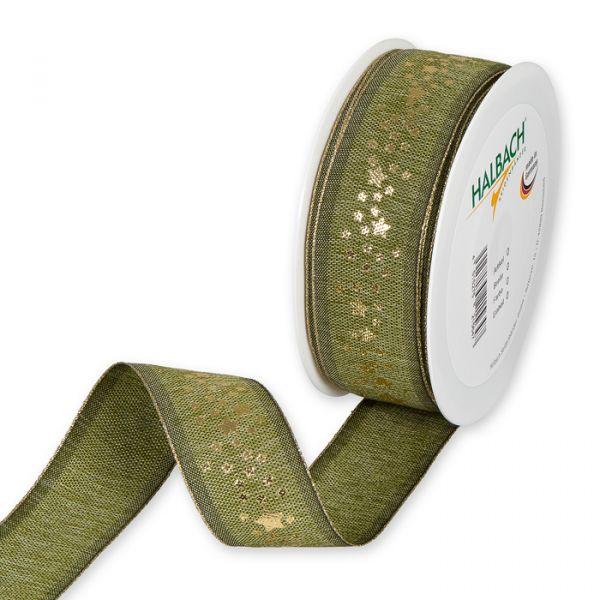 "Druckband ""Sternchen"" olive green/gold Hauptbild Listing"