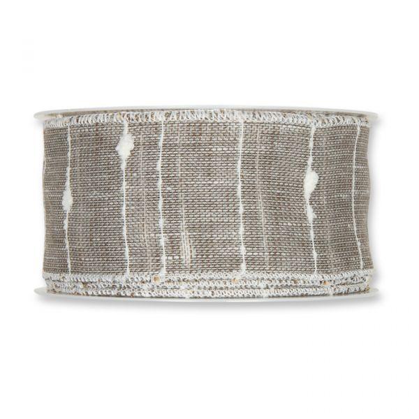 "Dekorationsband ""Leinen-Optik"" grey/white Hauptbild Detail"