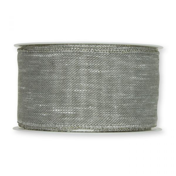 "Dekorationsband ""Leinen-Optik"" light grey Hauptbild Detail"
