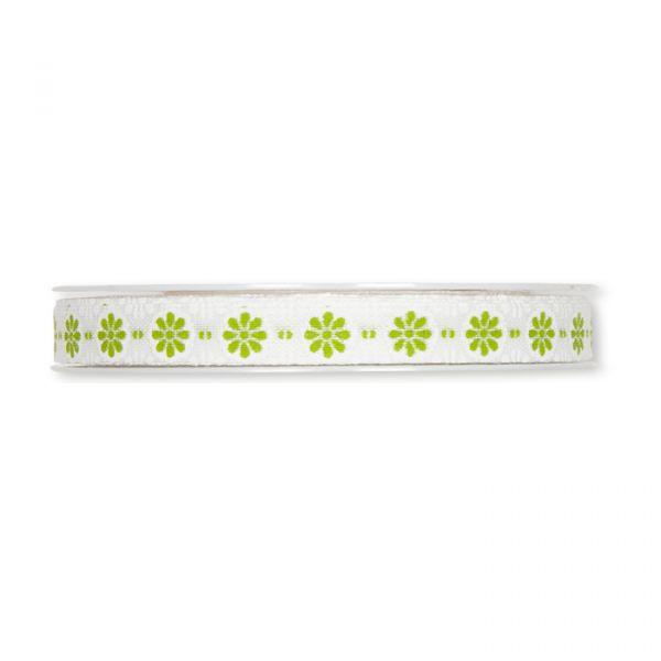 "Druckband ""Blümchen-Ornament"" white/green Hauptbild Detail"
