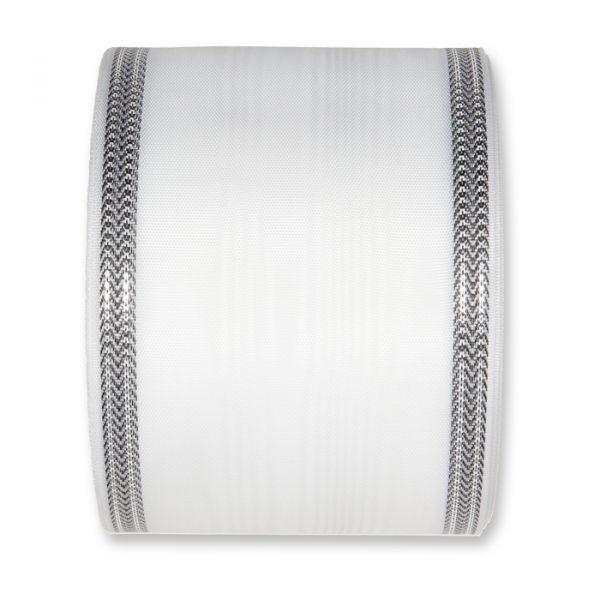 Moiréband white/silver Hauptbild Detail