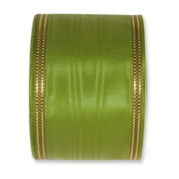 Moiréband - farbig moss green Hauptbild Detail