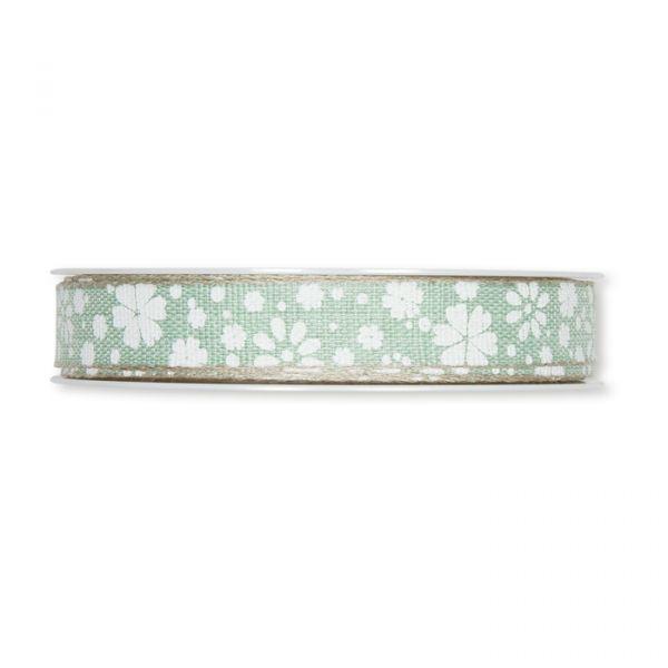"""Druckband """"Streu-Blümchen"""" mint/white/linen Hauptbild Detail"""