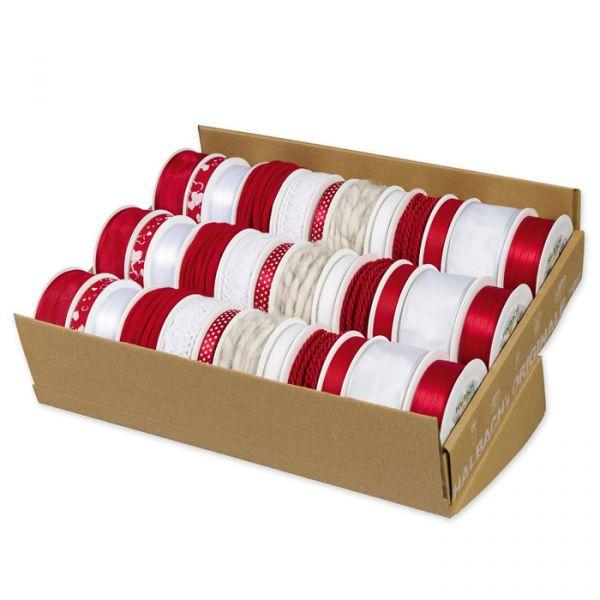 Set Rot-Weiß 12 x 3 Rollen red/white Hauptbild Detail